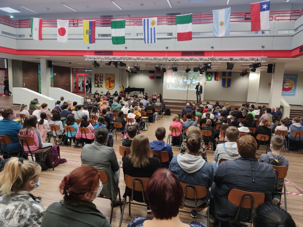 Volles Haus: 95 Schülerinnen und Schüler starten im neuen Jahrgang Fünf. Herzliches Willkommen! Foto: Röttgers